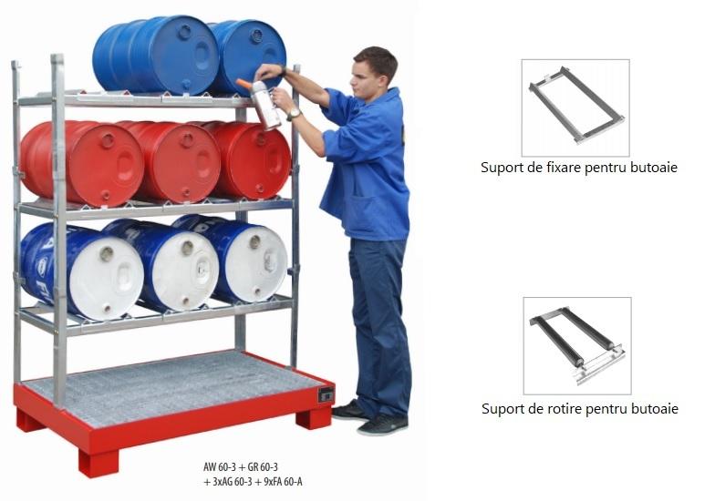 10627 rafturi de depozitare 150kg bauer bauer sudlohn Accesorii depozitare/golire butoaie, canistre, recipiente (60l) | Bauer - Unilift