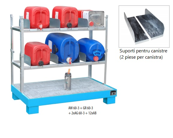 10628 rafturi de depozitare 150kg bauer bauer sudlohn Accesorii depozitare/golire butoaie, canistre, recipiente (60l) | Bauer - Unilift