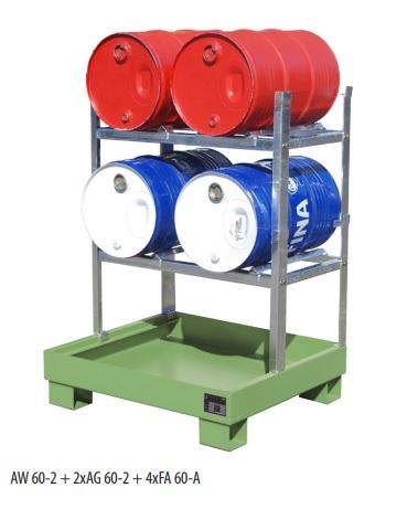 10629 rafturi de depozitare 150kg bauer bauer sudlohn Accesorii depozitare/golire butoaie, canistre, recipiente (60l) | Bauer - Unilift