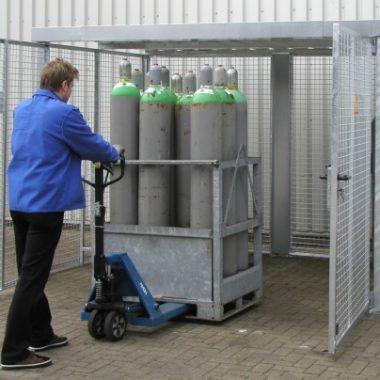Container de depozitare pentru recipiente cu gaz TYPE GFC-M   Bauer
