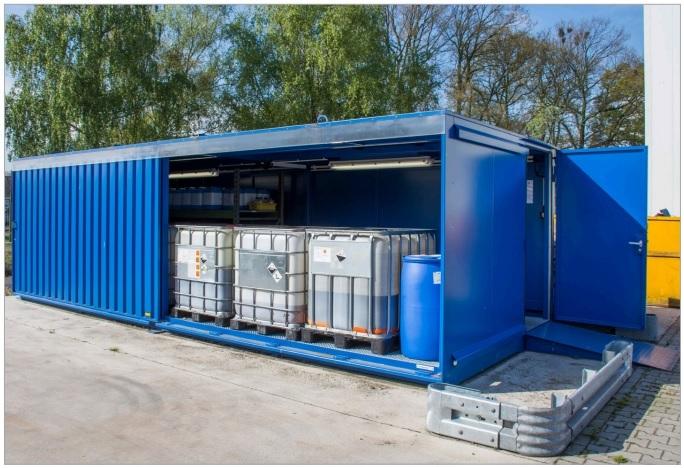 10696 depou izolat pentru substante chimice inflamabile type ceh bauer bauer sudlohn Depou/container pentru substante chimice periculoase TYPE CR / CRN / CRH | Bauer - Unilift