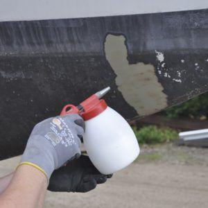 Pistol sablare cu bicarbonat de sodiu cu duza din otel si recipient 1.2 L | JWL
