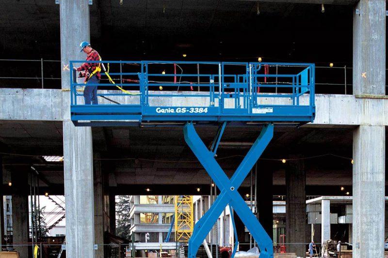 12127 nacela elevatoare pentru teren denivelat gs 3384 rt genie Nacela elevatoare pentru teren denivelat GS-3384 RT | GENIE - Unilift
