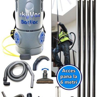 Aspirator de spate pe baterie +4 poli (6 m inaltime aspirare) SkyVac BacVac | SpinAclean