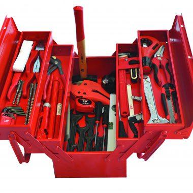Trusa cu unelte profesionale pentru instalatori sanitari TSIS | MOB&IUS