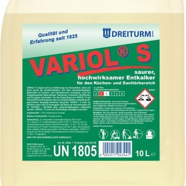 Detergent acid pentru indepartarea calcarului si a ruginei 1L   Variol s   Dreiturm
