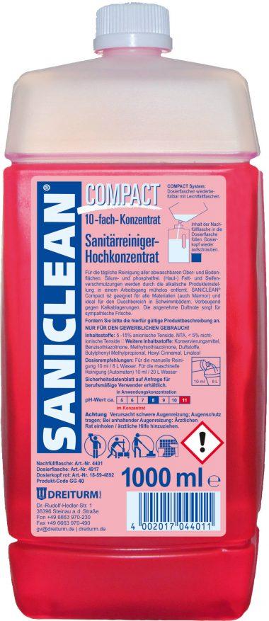 Detergent sanitar superconcentrat