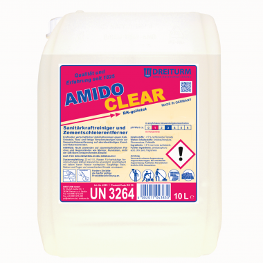 Detergent sanitar cu putere mare de curatare 1 L   Amidoclear   Dreiturm