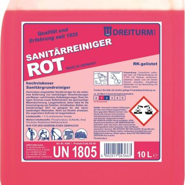 Detergent sanitar profesional   Sanitarreiniger Rot   Dreiturm