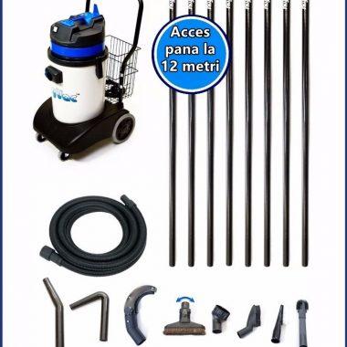 Aspirator pentru arii greu accesibile + 8 poli 12m | SkyVac Internal 30 | SpinAclean