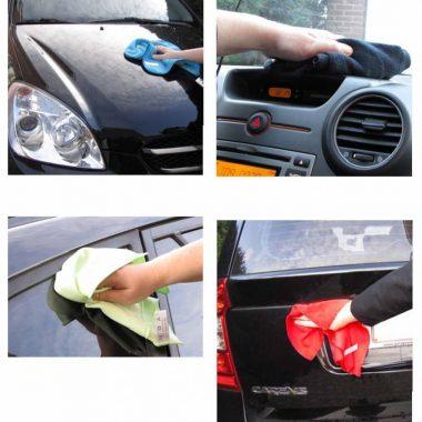 Set de 4 lavete specifice pentru autoturisme (1x praf, 1x lustruire, 1x spalare, 1x geam) | DeWitte