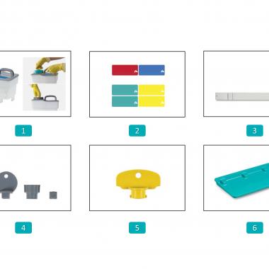 Accesorii si componente pentru sistemele de dozaj – Tecno Trolley System