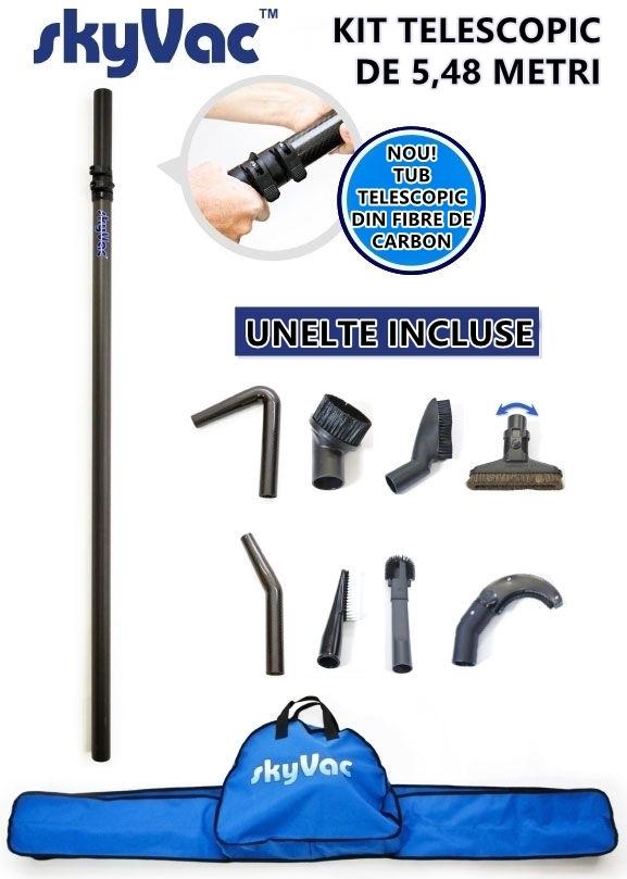 Kit telescopic pentru aspirare