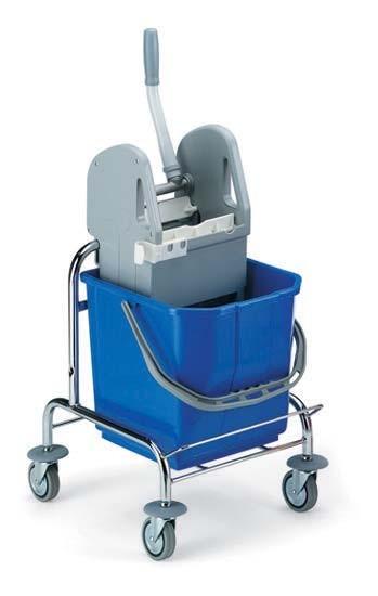 Carucior de curatenie profesional cu storcator mop de 15 l – Tecno Trolley System