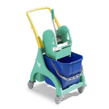 Carucior profesional de curatenie cu storcator mop Tec si galeata de 15 l – Tehno Trolley System