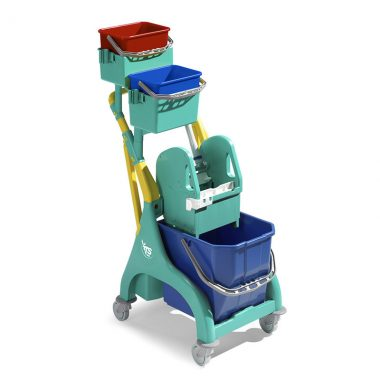 Carucior de curatenie profesional cu storcator mop Nick Plus 20 – Tecno Trolley System