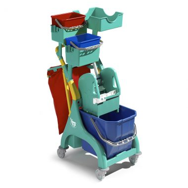 Carucior de curatenie profesional cu storcator mop Nick Plus 110 – Tecno Trolley System