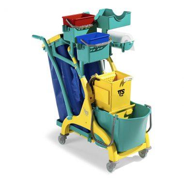 Carucior de curatenie profesional cu storcator mop Nick Star 220 – Tecno Trolley System