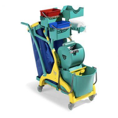 Carucior de curatenie profesional cu storcator mop Nick Star 320 – Tecno Trolley System