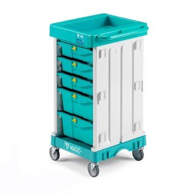 Carucior pentru menaj profesional modular Mini Magic 400B – Tecno Trolley System