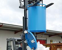 Container cilindric cu trapa inferioara TYPE RB 0.3 m3 – 0.45 – m3 | Bauer