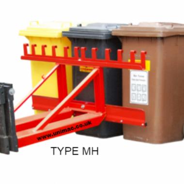 Dispozitiv manipulare containere pentru deseuri WHEELIE BIN JACK TYPE MH | Bauer