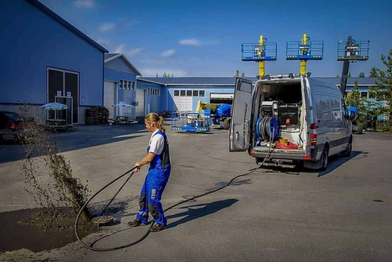 8315 kit de spalare pentru pubele si containere de gunoi jpl dynaset Echipament de curatat /desfundat conducte si canalizari   PPL 200   Dynaset - Unilift