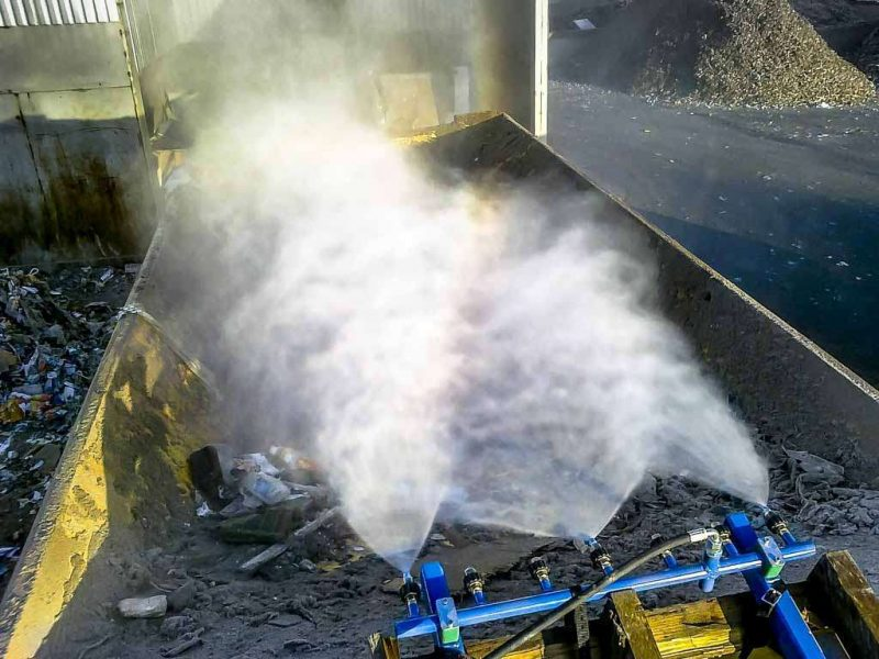 8352 kit de pulverizare cu presiune ridicata anti praf hpw dust dynaset Kit de pulverizare anti-praf actionat hidraulic   HPW-DUST 200   Dynaset - Unilift echipament anti-praf actionat hidraulic