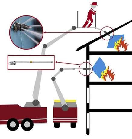 Lance de penetrare actionata hidraulic pentru stingerea incendiilor