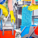 Manusi din nitril cu striatii pentru curatenie/industria sanitara | Grippaz