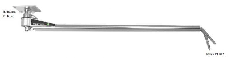 8712 instalatie self service cu brate dotate cu intrare si iesire dubla inline dp2 mosma mosmatic Brat mobil cu iesire dubla pentru instalatii de spalare | INLINE DP2 | Mosmatic - Unilift
