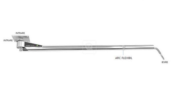 8715 brat flexibil pentru spalatorii inline dkf mosmatic Brat mobil pentru instalatii de spalare | INLINE DKF | Mosmatic - Unilift