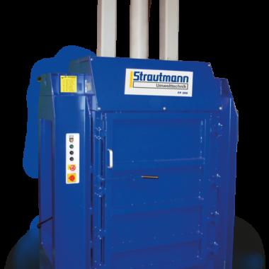 Presa compactoare pentru butoaie sau recipiente din metal FP200   Strautmann