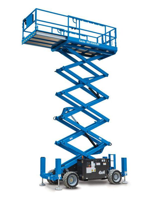9748 nacela elevatoare gs 2669 rt genie Nacela elevatoare pentru teren denivelat - GS-2669 RT | GENIE - Unilift