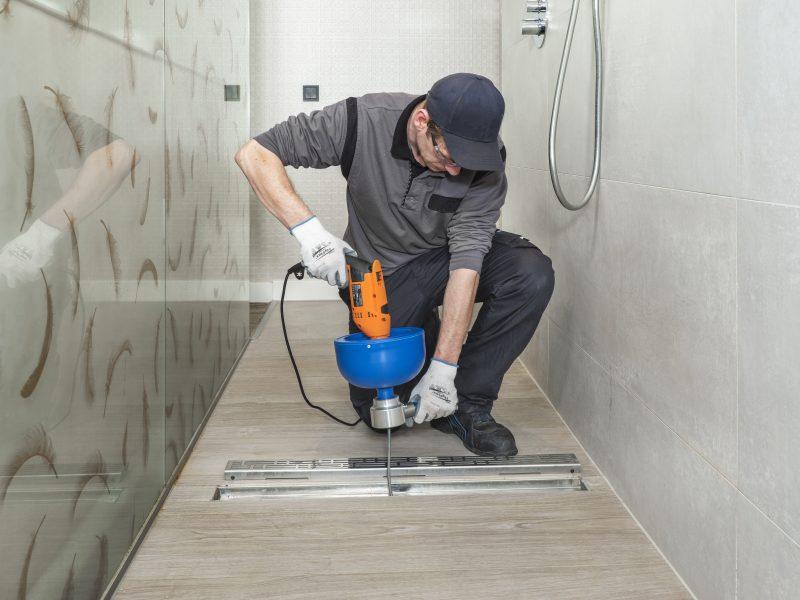 DSF5515 1 scaled Sarpe desfundat tevi/canalizari cu tambur (actionat de bormasina) | HandMatic | Rioned - Unilift Sarpe desfundat tevi