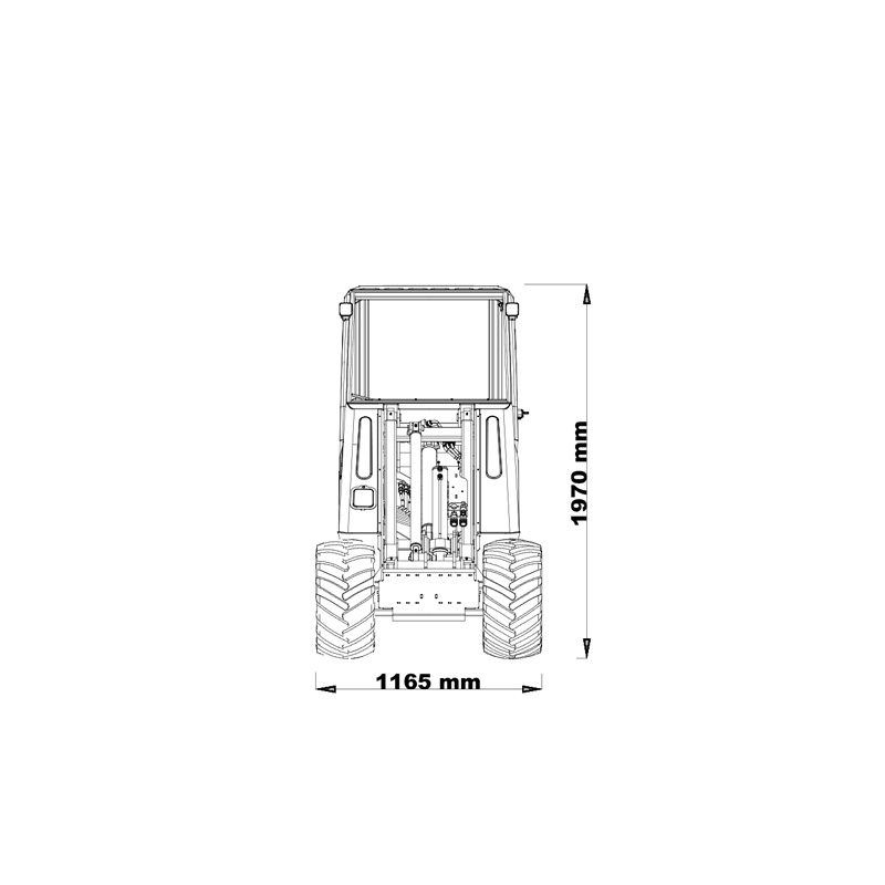 mini incarcator cast 20T schita2 Miniincarcator multifunctional  Cast 20T - 20CP - max. 800 kg - Unilift Cast 20T – 20CP