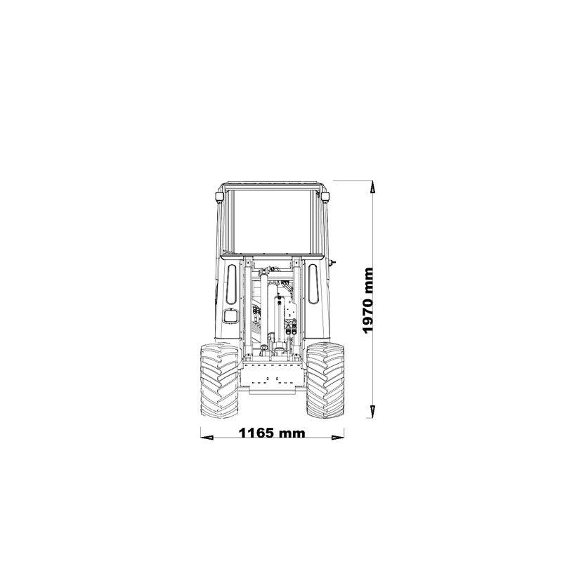 mini incarcator cast 23t schita2 Miniincarcator multifunctional  Cast 23T - 23CP - max. 950 kg - Unilift Cast 23T – 23CP