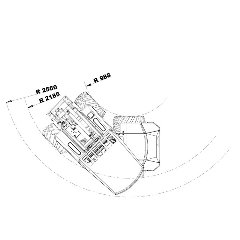 mini incarcator cast 23t schita3 Miniincarcator multifunctional  Cast 23T - 23CP - max. 950 kg - Unilift Cast 23T – 23CP