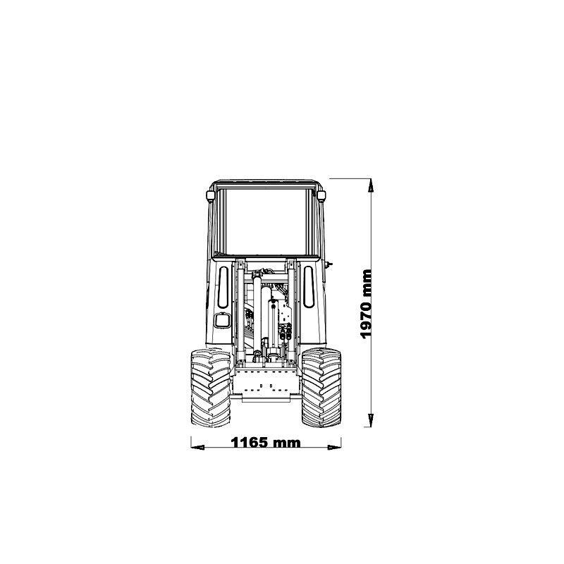 mini incarcator cast 28t schita2 Miniincarcator multifunctional  Cast 28T - 25HP - max. 950 kg - Unilift Cast 28T – 25HP