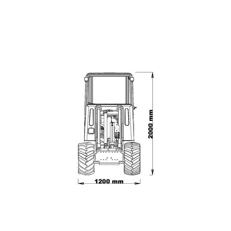 mini incarcator cast 33tlx schita2 Miniincarcator multifunctional  Cast 33TLX - 30CP - max. 950 kg - Unilift Cast 33TLX