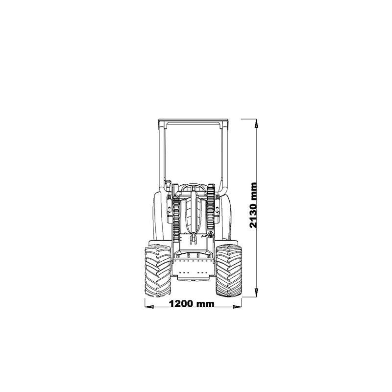 mini incarcator cast 35t schita2 Miniincarcator multifunctional  Cast 35T - 38CP - max. 800 kg - Unilift Cast 35T
