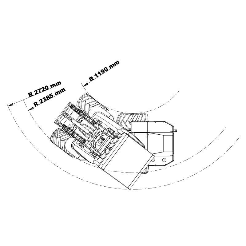 mini incarcator cast 35t schita3 Miniincarcator multifunctional  Cast 35T - 38CP - max. 800 kg - Unilift Cast 35T