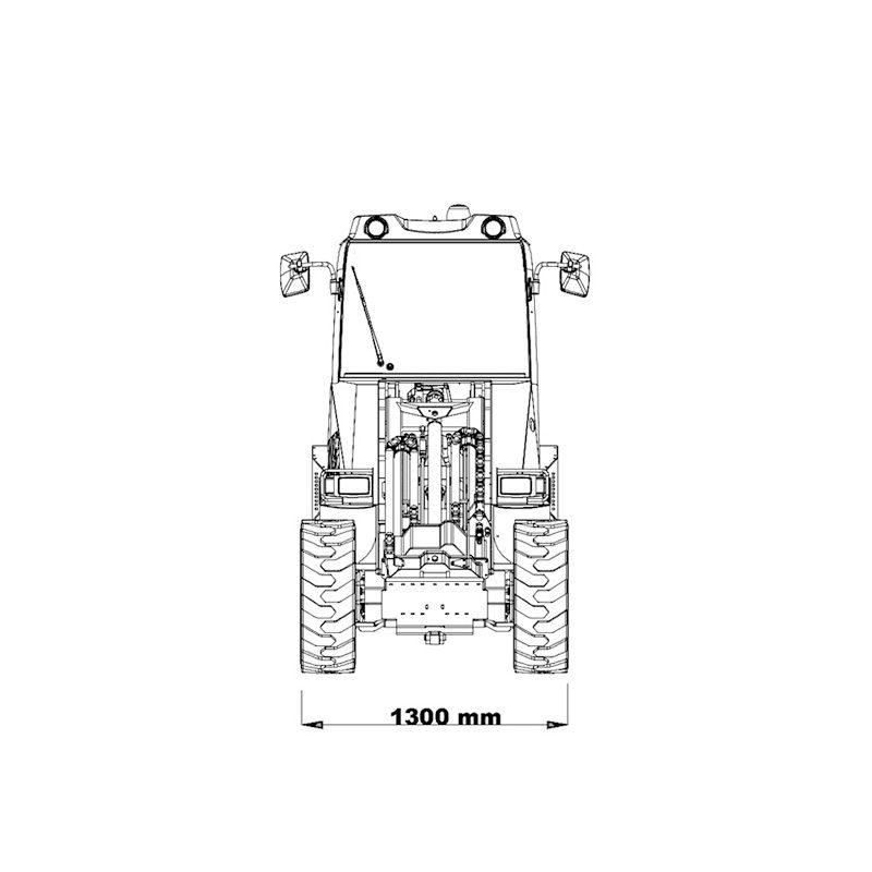mini incarcator cast 45t schita2 Miniincarcator multifunctional Cast 45T - 38CP - max. 1000 kg - Unilift Cast 45T