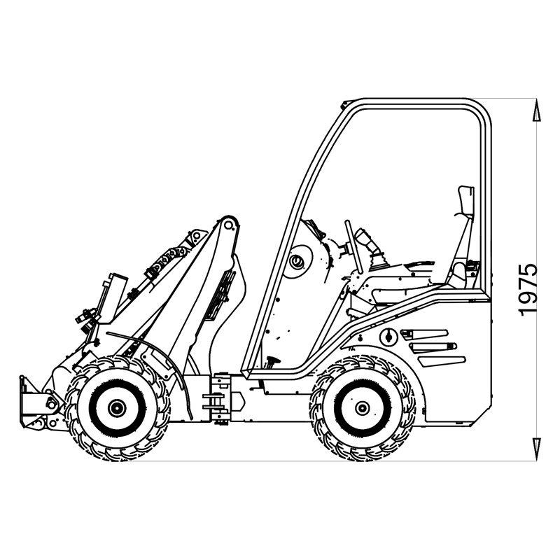 mini incarcator cast 825d schita1 Miniincarcator multifunctional  Cast 825D - 25CP - max. 850 kg - Unilift Cast 825D – 25CP