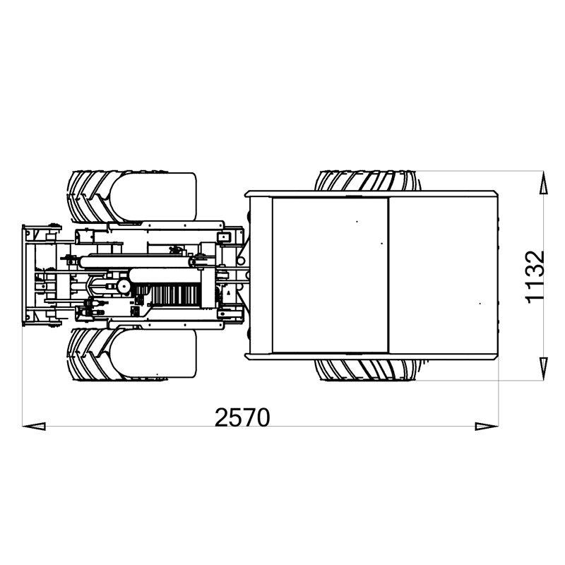 mini incarcator cast 825d schita2 Miniincarcator multifunctional  Cast 825D - 25CP - max. 850 kg - Unilift Cast 825D – 25CP