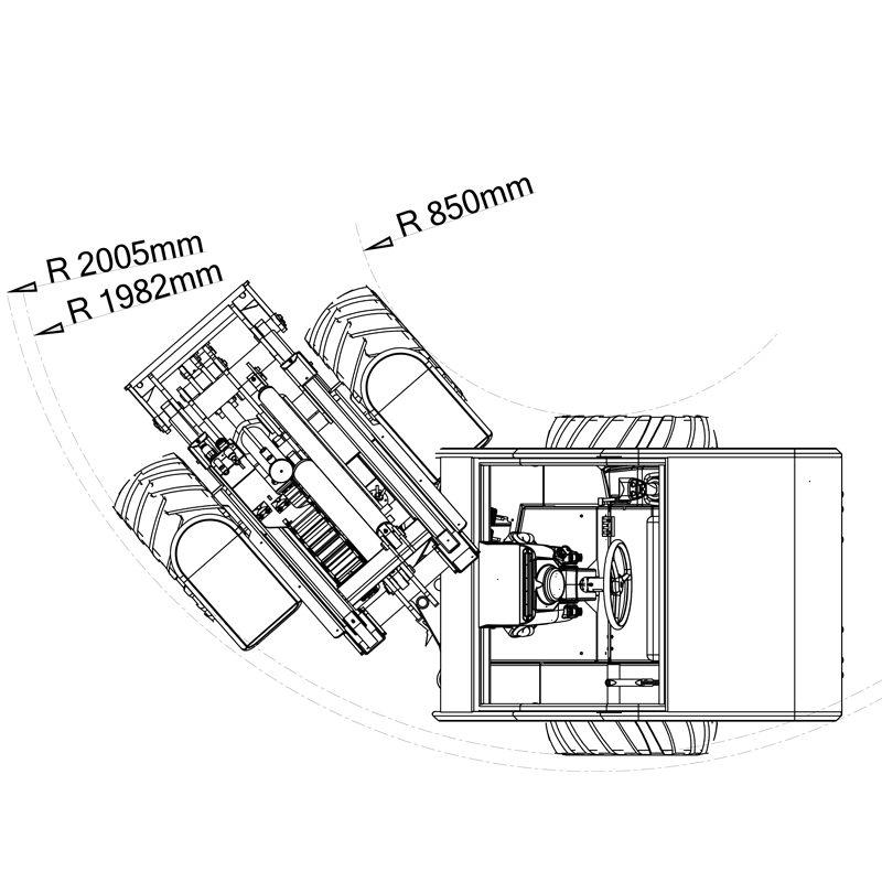 mini incarcator cast 825d schita3 Miniincarcator multifunctional  Cast 825D - 25CP - max. 850 kg - Unilift Cast 825D – 25CP