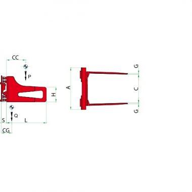 Bale clamp pentru baloti, ATIB
