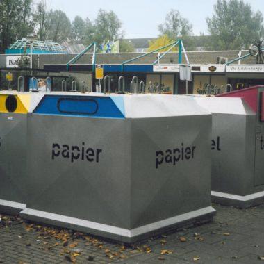 Container pentru reciclare hartie cu sistem suprateran | Bauer C