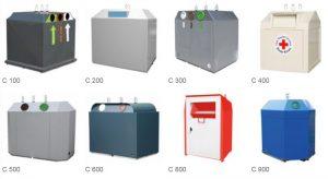 Containere C 300x164 - Container pentru reciclare textile cu sistem suprateran   Bauer C