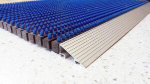Covor intrare cu profil din aluminiu 475×785 mm  ALBASTRU   ABI